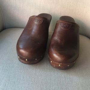 UGG Wooden Clog cognac brown leather  6